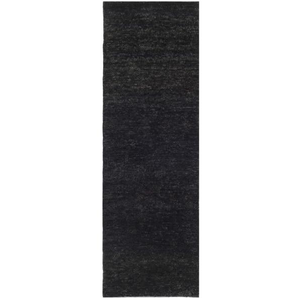 Safavieh Hand-knotted Vegetable Dye Solo Liquorice Hemp Rug (2'6 x 10')