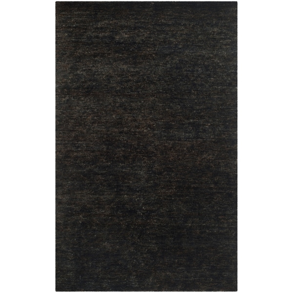 Safavieh Hand-knotted Vegetable Dye Solo Liquorice Hemp Rug - 6' x 9'