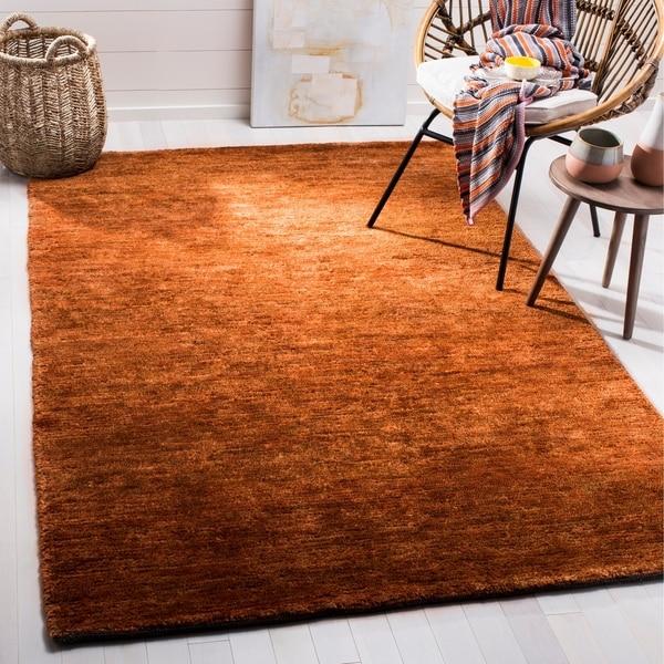 Safavieh Hand-knotted Vegetable Dye Solo Rust Hemp Rug - 9' x 12'