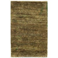 Safavieh Hand-knotted Vegetable Dye Solo Green Hemp Rug - 2' x 3'