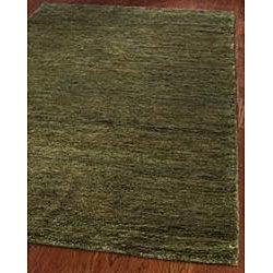 Safavieh Hand-knotted Vegetable Dye Solo Green Hemp Runner (2'6 x 12')