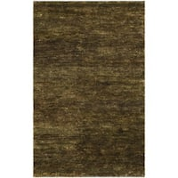 Safavieh Hand-knotted Vegetable Dye Solo Green Hemp Rug - 3' x 5'