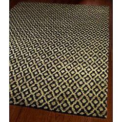 Safavieh Hand-knotted Vegetable Dye Morocco Black/ Gold Hemp Rug (6' x 9')