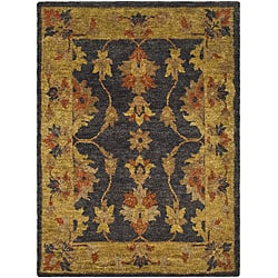 Safavieh Hand-knotted Heirloom Charcoal Jute Rug (6' x 9')