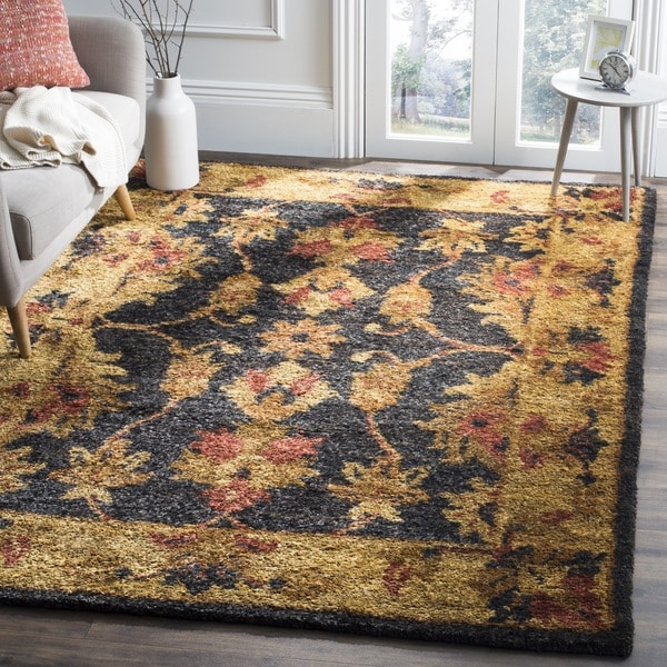 Safavieh Hand-knotted Heirloom Charcoal Jute Rug - 9' x 12'