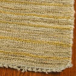 Safavieh Hand-knotted All-Natural Sunrise Beige Hemp Runner (2'6 x 12') - Thumbnail 2