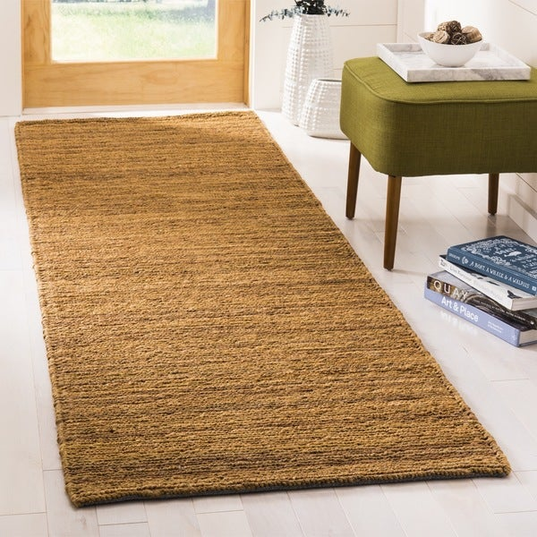 Safavieh Hand-knotted All-Natural Horizons Gold Hemp Runner - 2'6 x 12'