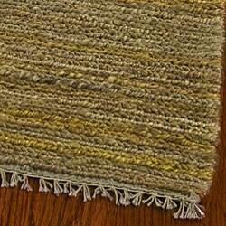 Safavieh Hand-knotted All-Natural Horizons Gold Hemp Rug (6' x 9')