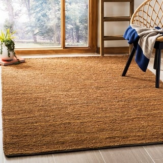 Safavieh Hand-knotted All-Natural Horizons Gold Hemp Rug - 6' x 9'