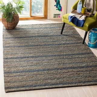 Safavieh Hand-knotted All-Natural Oceans Blue Hemp Rug (4' x 6')