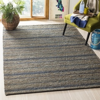 Safavieh Hand-knotted All-Natural Oceans Blue Hemp Rug (5' x 8')