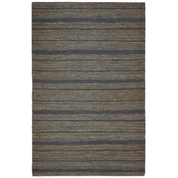 Safavieh Hand-knotted All-Natural Oceans Blue Hemp Rug (6' x 9')