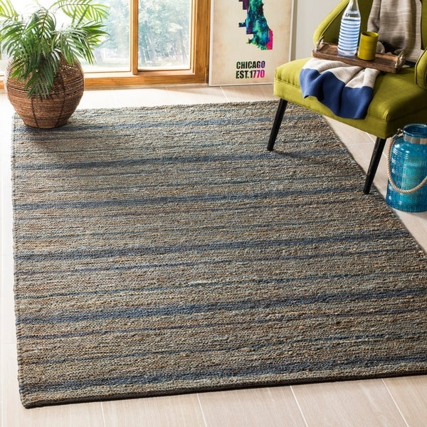Safavieh Hand-knotted All-Natural Oceans Blue Hemp Rug - 8' x 10'