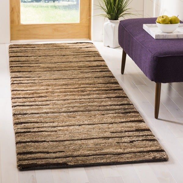 Safavieh Hand-knotted All-Natural Fields Beige Hemp Runner (2'6 x 12')