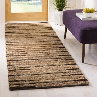Safavieh Hand-knotted All-Natural Fields Beige Hemp Runner (2'6 x 8')