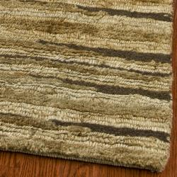 Safavieh Hand-knotted All-Natural Fields Beige Hemp Rug (3' x 5')