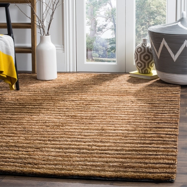Safavieh Hand-knotted All-Natural Fields Beige Hemp Rug - 4' x 6'