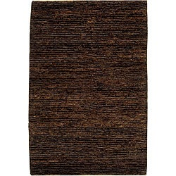"""Safavieh Hand-knotted All-Natural Earth Brown Hemp Runner - 2'6"""" x 10'"""
