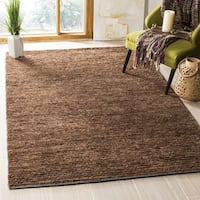 Safavieh Hand-knotted All-Natural Earth Brown Hemp Rug - 3' x 5'