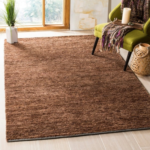 Safavieh Hand-knotted All-Natural Earth Brown Hemp Rug - 4' x 6'