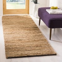 "Safavieh Hand-knotted All-Natural Hayfield Beige Hemp Runner - 2'6"" x 12'"