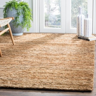 Safavieh Hand-knotted All-Natural Hayfield Beige Hemp Rug (5' x 8')