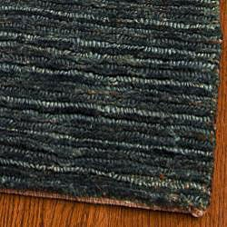 Safavieh Hand-knotted All-Natural Charcoal Grey Hemp Runner (2'6 x 10')