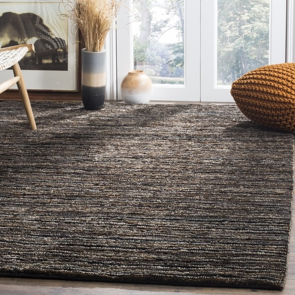 Safavieh Hand-knotted All-Natural Charcoal Grey Hemp Rug - 9' x 12'