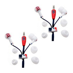 Nemo Digital MLF10113BS MLB Baseball Boston Red Sox Earbuds Case of 2
