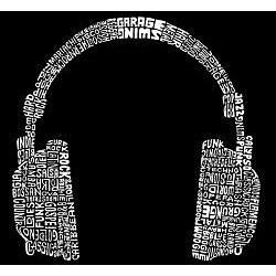 Los Angeles Pop Art Headphones Large Shopping Tote
