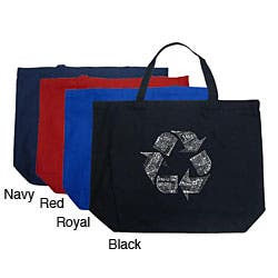Los Angeles Pop Art Recycle Large Shopping Tote