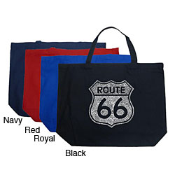 Los Angeles Pop Art Route 66 Large Shopping Tote