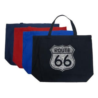 Los Angeles Pop Art Route 66 Large Shopping Tote|https://ak1.ostkcdn.com/images/products/4706285/P12620564.jpg?impolicy=medium