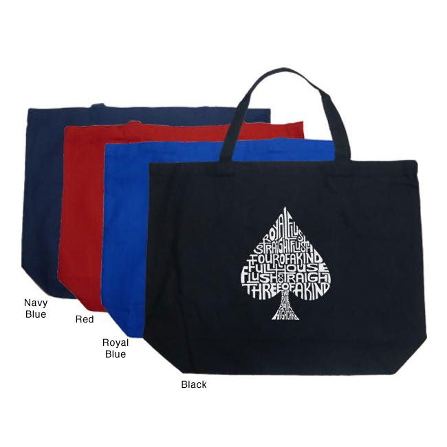 Los Angeles Pop Art Spade Large Shopping Tote