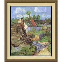 Framed Art Print 'House at Auvers, 1890' by Vincent van Gogh 26 x 30-inch