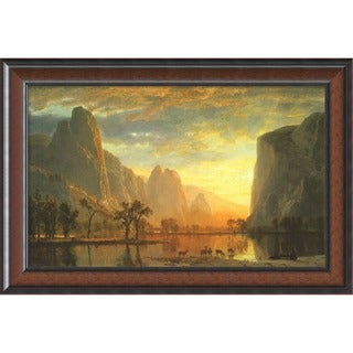 Framed Art Print 'Valley of the Yosemite, 1864' by Albert Bierstadt 33 x 22-inch