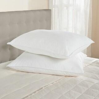 Standard 300 Thread Count Soft Firmness White Down Pillows (Set of 2)