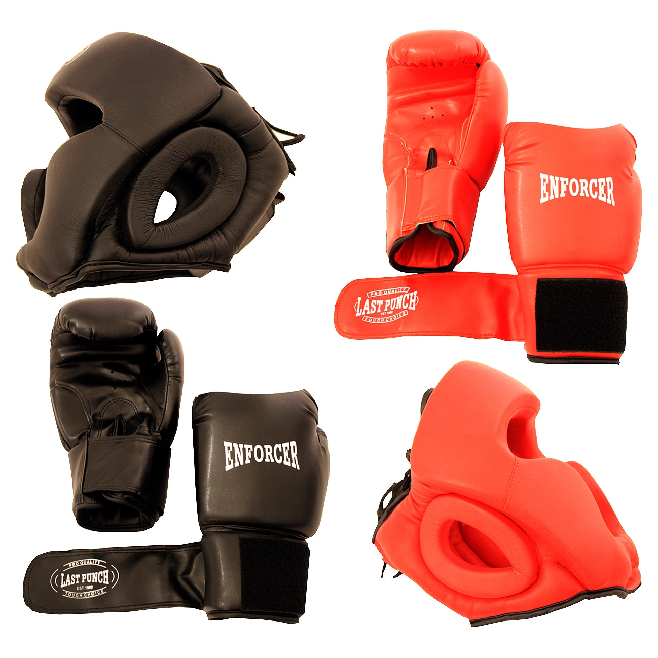 Last Punch Pro Boxing Gloves and Head Gear (Set of 2 Each...