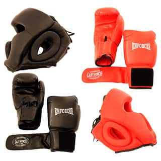 Pro Boxing Gloves and Head Gear (Set of 2 Each)|https://ak1.ostkcdn.com/images/products/4709525/4709525/Pro-Boxing-Gloves-and-Head-Gear-Set-of-2-Each-P12623246.jpg?impolicy=medium