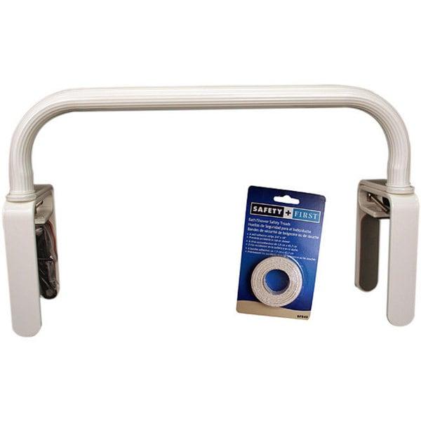 Safety First White Low-profile Grab Bar Bath Tub Safety Kit