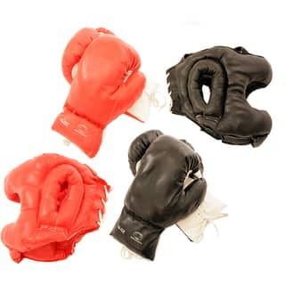 Adult-sized Buffed-PVC Boxing Gloves and Head Gear (Set of Two)|https://ak1.ostkcdn.com/images/products/4709540/4709540/Adult-sized-Buffed-PVC-Boxing-Gloves-and-Head-Gear-Set-of-Two-P12623251.jpg?impolicy=medium