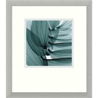 Framed Art Print 'Lily Leaves' by Steven N. Meyers 15 x 17-inch