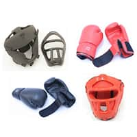 Pro Boxing Gloves and Head Cage Gear (Set of 2)