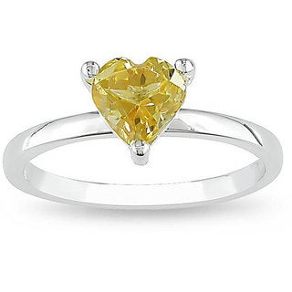 M by Miadora Sterling Silver Citrine Heart Ring