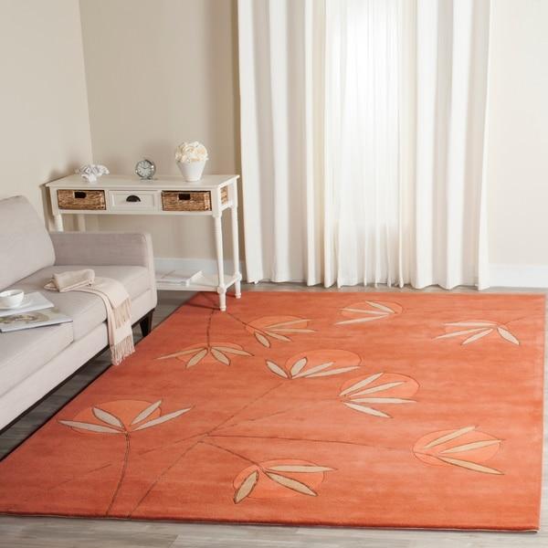 Safavieh Handmade Soho Summer Rust New Zealand Wool Rug - 8'3 x 11'