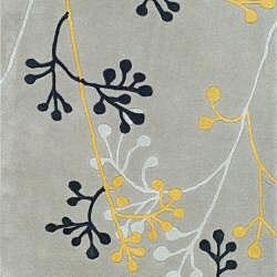 Safavieh Handmade Soho Golden Vine Grey N. Z. Wool Runner (2'6 x 10') - Thumbnail 2