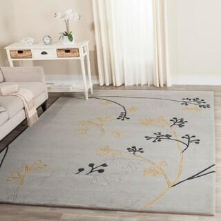 Safavieh Handmade Soho Golden Vine Grey New Zealand Wool Rug (7'6 x 9'6)