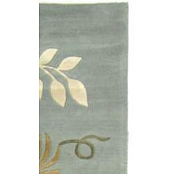 Safavieh Handmade Soho Twigs Light Blue N. Z. Wool Runner (2'6 x 10') - Thumbnail 1