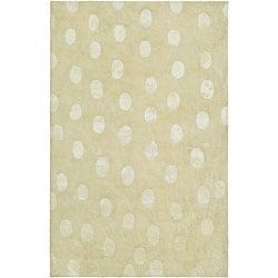 Safavieh Handmade Soho Deco Beige New Zealand Wool Rug - 5' x 8' - Thumbnail 0