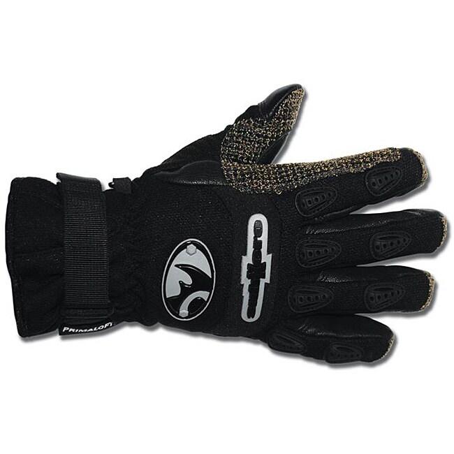 Black Rhino SubXero Medium Black Rugged Goatskin and Cordura Gloves